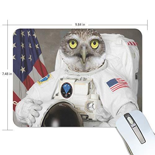 Adler-tastatur (MONTOJ Gaming-Mauspad Astronaut Adler Tier im Weltraum Computer Tastatur Mauspad, wasserabweisend, rutschfeste Unterseite, ideal für Gaming und Arbeiten)