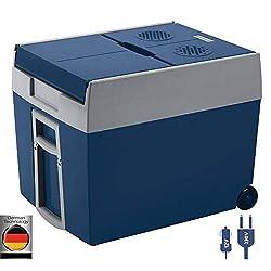 Mobicool W48 AC/DC - elektrische Kühlbox mit Rollen passend für eine komplette Getränkekiste/Bierkiste, 48 Liter, 12 V und 230 V für Auto, Lkw und Steckdose, A++