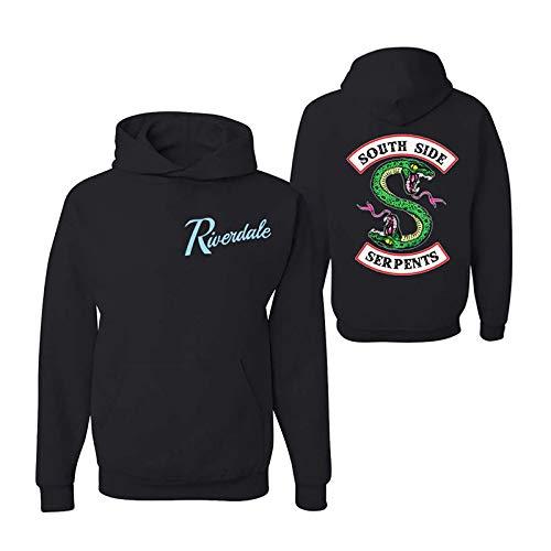 AimdonR Riverdale-Kapuzenshirt Ulmenco Southside Serpents Varsity-Jacke mit Langen Ärmeln Southside-Pullover Mit Kapuze Sweatshirt (Für Varsity-jacke Mädchen)