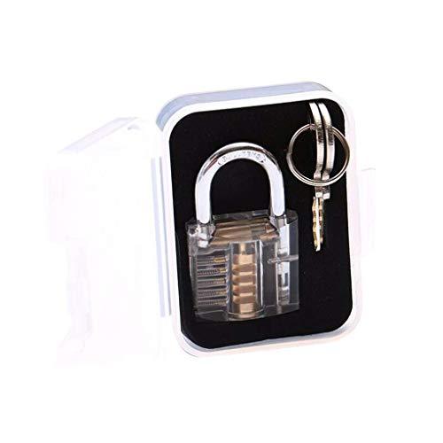 Mengonee Transparent Schlösser Auswahl Visible Cutaway Mini Praxis Ansicht Padlock Haspen Trainings Fähigkeit für Schlosserei Möbelbeschläge Dekoration