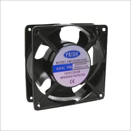 """Ac Axal Fan Cooling Blower Exhaust Rotary Fan, Size : 4.75"""" inches (120x120x38mm) ,Black"""