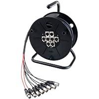 Pronomic 30693 - Cable para micrófono 6/2 XLR, 15 m