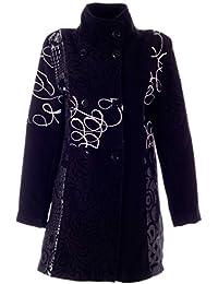 Damen Mantel in stylischem Patchwork Design