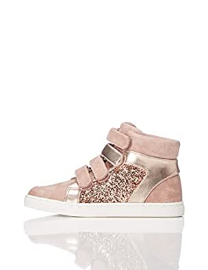 RED WAGON Mädchen Sneaker mit Metallic-Look, Pink (Pink), 25.5 EU