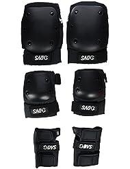 DVS Pro protección KEW almohadillas - adulto, color Negro - negro, tamaño mediano