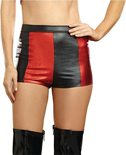 Dreamgirl 10395Harlequin Hi-Waist Shorts Kostüm, -