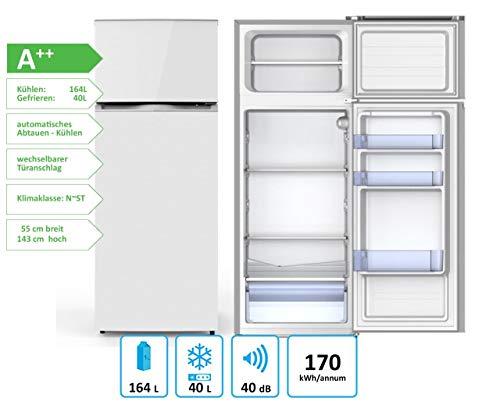 PKM GK 212.4A++N2 Kühl-Gefrierkombination 204 Liter weiß Kühlschrank