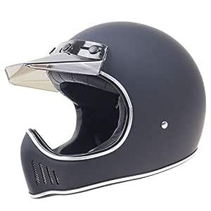 FidgetGear Motorcycle Off-road Racing Helmet Full Face Helmet Outdoor Racing Helmet matte black XXL