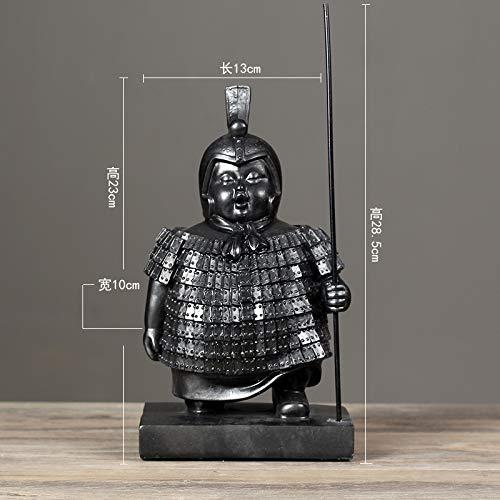 ZBBSHOP Neue Qin-Terrakotta-Krieger und -Soldaten im chinesischen Stil Charaktere Modelle Dekorationen Arbeitszimmer Dekoration Buchstützen Stehende Dekorationen