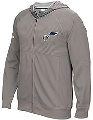 """Utah Jazz Adidas 2016 NBA Men's On-Court """"Pre-Game"""" Full Zip Hooded Jacket Veste"""