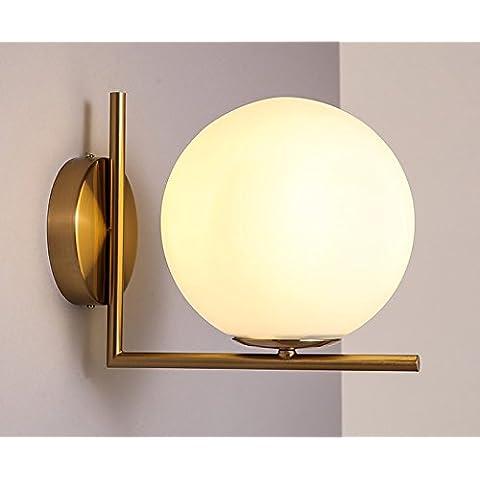 ZQ@QX Parete decorativa tradizionale semplice hotel café ristorante lampada da parete Perline in vetro lampada da parete (275 * 220mm) , warm white