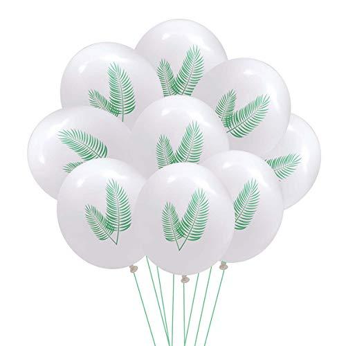 Amosfun Hawaii Party Latex Ballon Palm Tree Blätter Druck Dekorative Luftballons Kit für Geburtstag Hochzeit Sommer Party 10 STÜCKE 12 Zoll