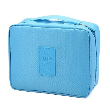 Okayji Travel Organizer Bag Case Traveling Multipurpose Pouch for Cosmetic Makeup Toiletry - Blue