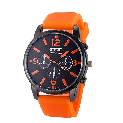 armbanduhren männer Herrenuhr mit Datum Funktion herren Herren Luxus Schwarz Edelstahl Analog Quarz Sport Armbanduhr ODER Armbanduhr Uhren Armbanduhren Herrenarmbanduh Orange