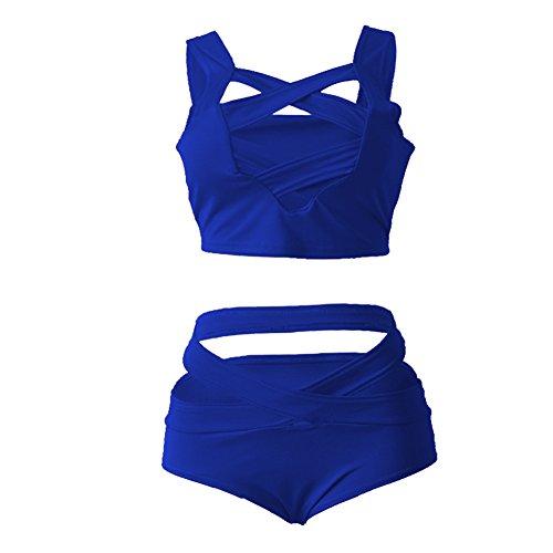 Women Bikini Set Sexy Swimsuit Tropical Leaves Print Padded Bathing Suit Low Waist Beach Swimwear
