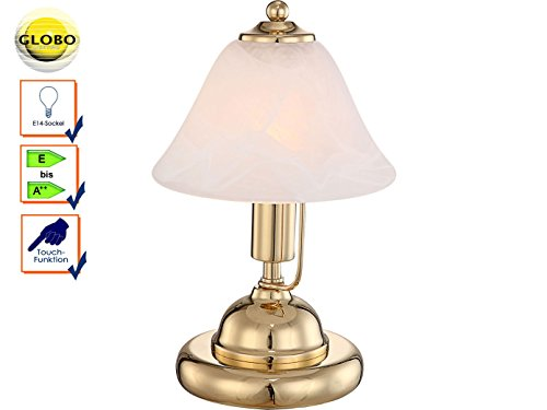 chte Touch Schalter Lese Lampe Messing Beleuchtung Globo 24908 (Antike Messing Touch-lampe)