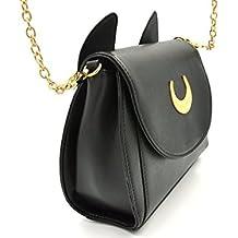 9761ef95e XLKJ Bolsos de Hombro Mujer Pequeño, Bolso de Sailor Moon con Orejas de  Gato,
