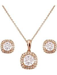 Fashion plaza de grands femme en forme de bijoux avec collier et boucles d'oreilles s158