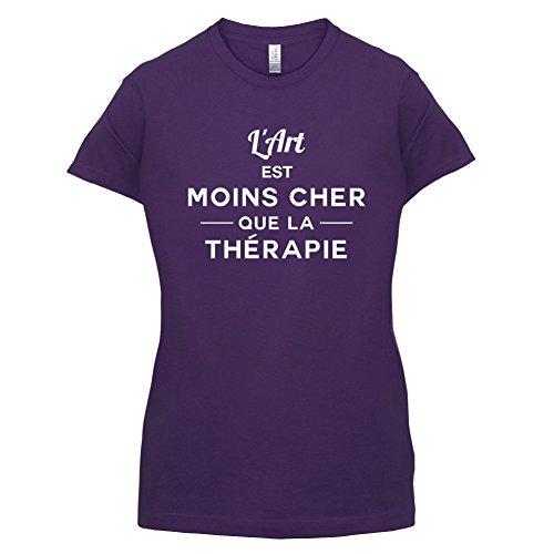 L'art est moins cher que la thérapie - Femme T-Shirt - 14 couleur Violet