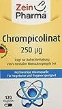 ZeinPharma Chrompicolinat 250 Microgram 120 Kapseln (4 Monate Vorrat) für einen normalen Blutzuckerspiegel Hergestellt in Deutschland, 20 g