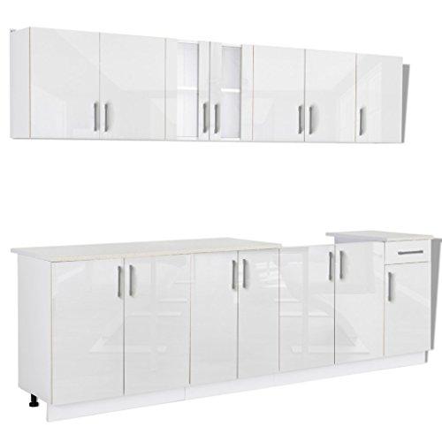 Anself Küchenzeile Küchenblock Einbauküche mit Spülschrank ...