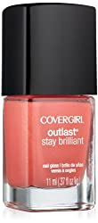 Covergirl Outlast Stay Brilliant Nail Gloss, My Papaya 250, 0.37 Ounce by COVERGIRL