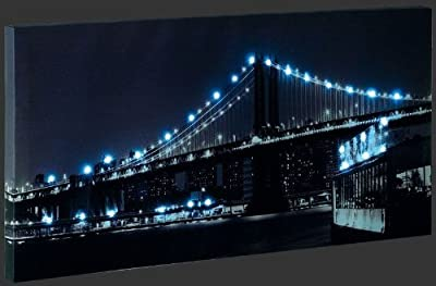 Reality Leuchten Led Bild 60x30cm Brücke 28x LED 0.06 Watt Schalter Leuchtbild