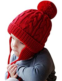 IBLUELOVER Beanie Hat Niño Bebé Gorros de invierno Punto niña 63c55f64867