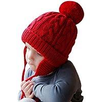 Bonnet Chapeau Enfant Bébé Hiver Bonnets Tricoté Fille Garçon Respirant  Doux Beanie Hats avec Torsades Tresse d791111a1fc