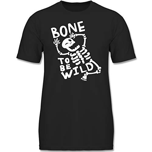Anlässe Kinder - Bone to me Wild Halloween Kostüm - 116 (5-6 Jahre) - Schwarz - F130K - Jungen Kinder T-Shirt