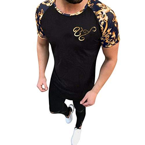 Zolimx t shirt uomo t-shirt manica corta da uomo camicia da uomo casual slim t-shirt top yoga fitness ginnastica bodybuilding lavaggio