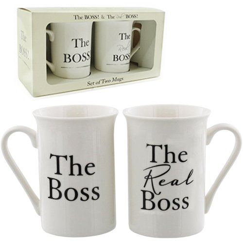 Set von 2Boss Becher Set Tassen, Kaffee Tee Hochzeitstag Box China Geschenk Neu China Tee-set Für Zwei