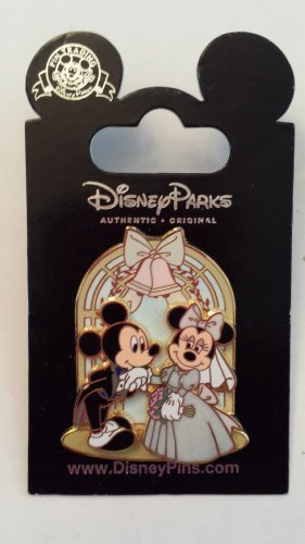 2008-wedding-mickey-miinnie-mouse-disney-pin-trading-collectible-lapel-pin-by-wd-40