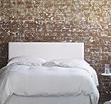 SuenosZzz. Cabecero para cama de Polipiel Blanco. Medida: 100cm/57cm/6cm. Camas de 90 cm.