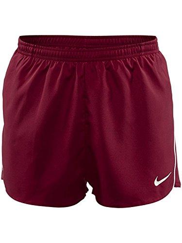 Nike Mens Tempo Split Shorts Cardinal/White