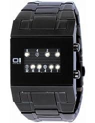 Binary THE ONE KERALA TRANCE KTL202W2 - Reloj digital de caballero de cuarzo con correa de acero inoxidable negra - sumergible a 30 metros