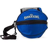 ASEOK Bolsa de baloncesto portátil para baloncesto, fútbol, bolsa de almacenamiento con correa para el hombro, bolsa de PVC para deportes al aire libre, bolsa de entrenamiento, accesorios