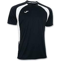 Joma 100014.102 - Camiseta de equipación de manga corta para hombre, color negro/blanco, talla L