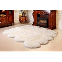 Bowron Longwool Six Piece Sheepskin Rug - Ivory