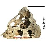 Aquarium Naturlochgestein, Eck-Dekor-Lochstein, Größe: ca. 24x24x26 cm