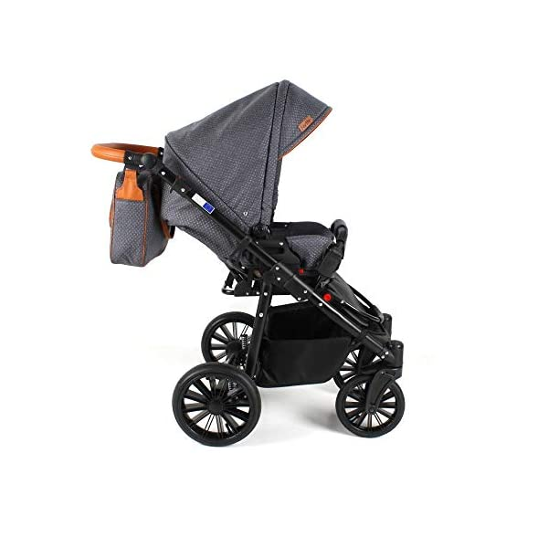 Travel System Stroller Pram Pushchair 2in1 3in1 Set Isofix Fort by SaintBaby Sand for-2 4in1 car seat +Isofix SaintBaby 3in1 , 2in1 or 4in1 selectable with isofix. With 3in1 you get the car seat (baby seat) in addition. With 4in1 you get both the infant carrier with Isofix mount and an Isofix base for your car. Of course, each set includes the infant carrier (classic stroller) and the buggy attachment (sports seat). The free accessories are also included in each set (changing bag, mosquito net and rain hood). Of course the car complies with the EU safety standard EN1888. During the production as well as before shipping, each car is carefully checked, so that you can be sure to have one of the best cars. Saintbaby stands for all-round carefree packages, so you also get a changing bag in the colour of the car, as well as rain and insect protection free of charge. With all the colours of this pram you will find the pram of your dreams. 6