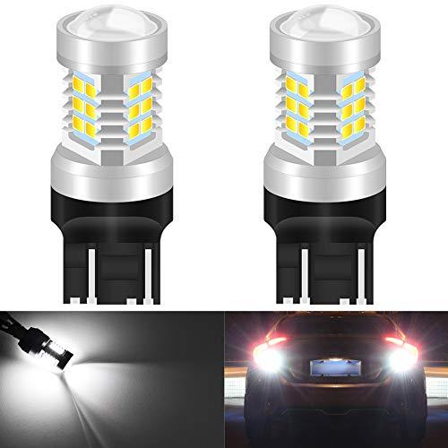 KaTur 7443 7444NA 7440 7440NA 992 Ampoules LED Haute Puissance 2835 21 chipsets Super Lumineux avec Remplacement du projecteur pour Feux de recul, Feux de recul DRL, Feux arrière, Blanc xénon