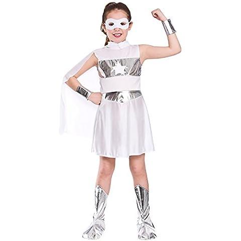 Wicked Costumes - Disfraz de superheroína para niña, color blanco