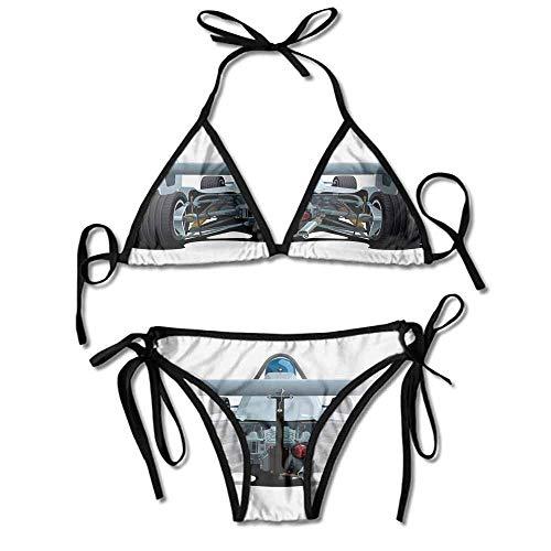 Swimsuit Tops Underwire Plus of A Formula 1 Race Printing Bikini for Women -