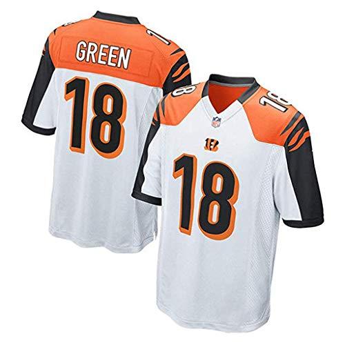 Jersey NFL Cincinnati Bengal Tiger 18# 85# Fußball Jersey Fan Edition Stickerei Kurzarm Top T-Shirts-1-L