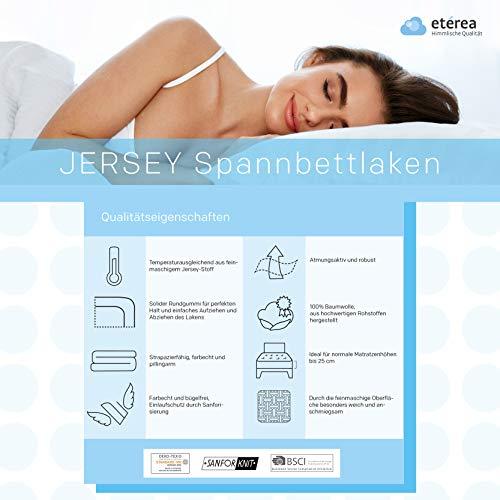 #3 Etérea Kinder Jersey Spannbettlaken, Spannbetttuch, Bettlaken, 60×120 – 70×140 cm, Orange - 5