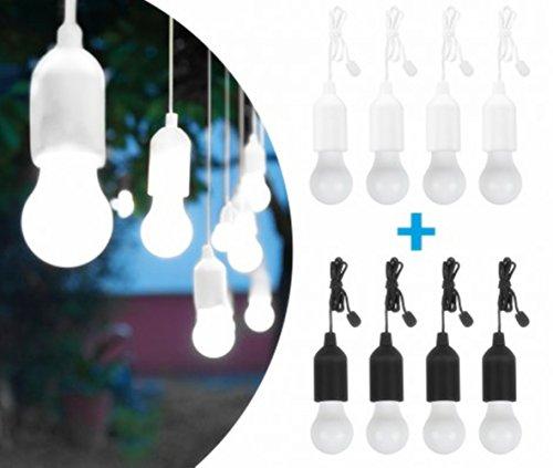Handy Lux Couleurs kabellose LED Leuchte in 2 Gehäuse Farben   8 pièces Lampen   Safe touch Oberfläche   Bruchfest   Garten, Camping, Fête, Kleiderschrank   Das Original aus dem TV