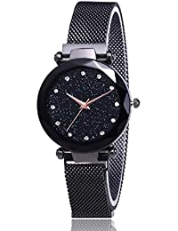 The Shopoholic Analogue Black Dial Watch for Girls(S-453)