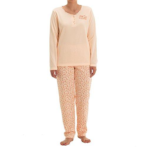 lucky-brand-pigiama-due-pezzi-floreale-maniche-lunghe-donna-orange-apricot-xx-large