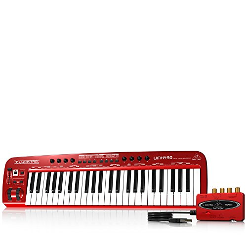 Behringer U-Control UMX490 49-Tasten USB/MIDI Controller Keyboard inkl. Behringer UCA222 Audio Interface